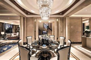 新古典别墅样板间装修餐厅效果图