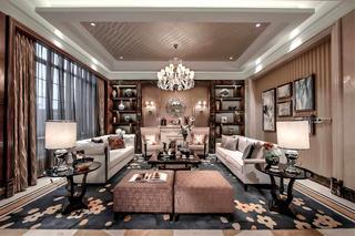 新古典别墅样板间装修客厅效果图
