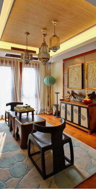 东南亚风格别墅装修茶室布置图