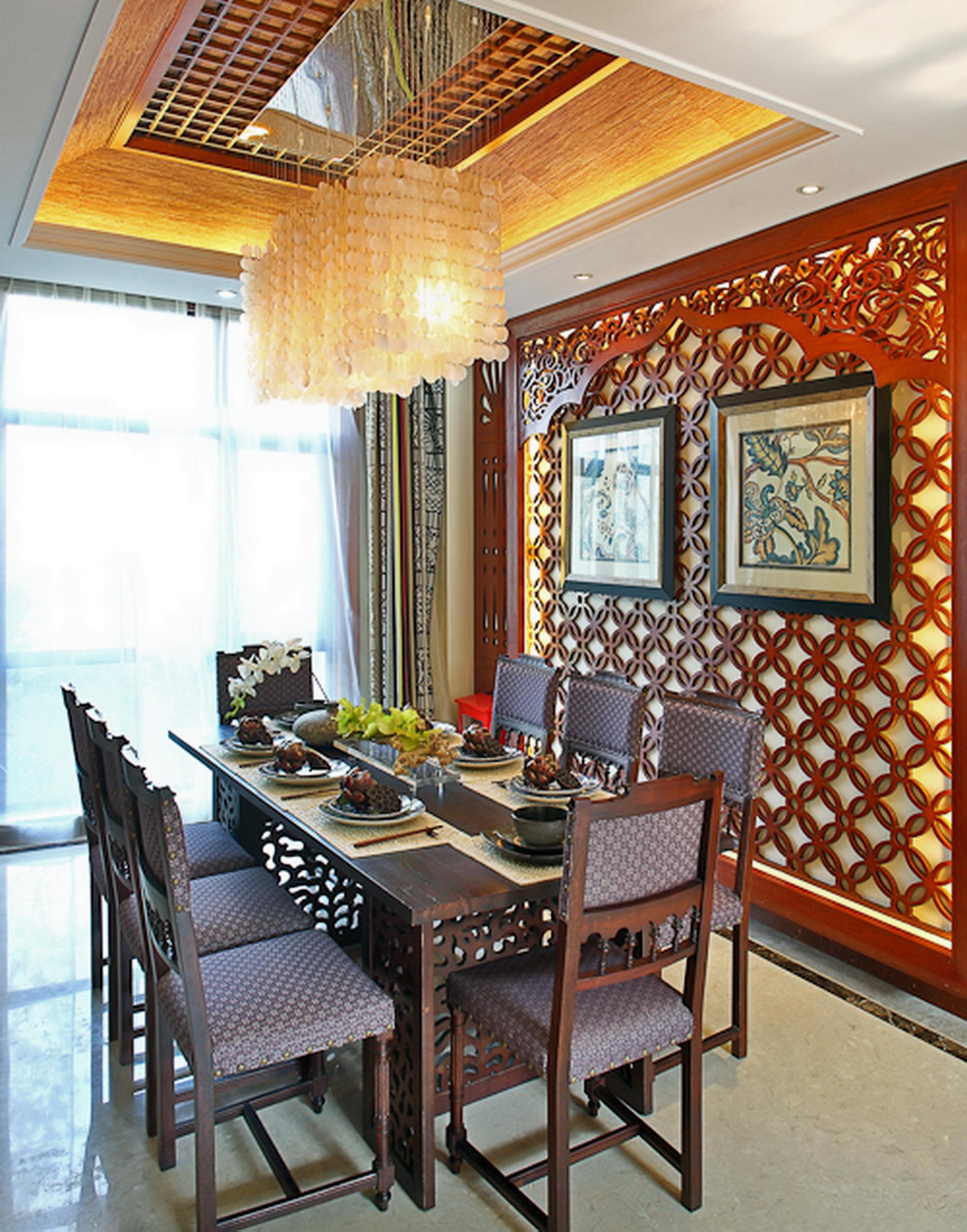 东南亚风格别墅装修餐厅设计图