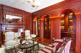欧式精致奢华别墅装修起居室效果图