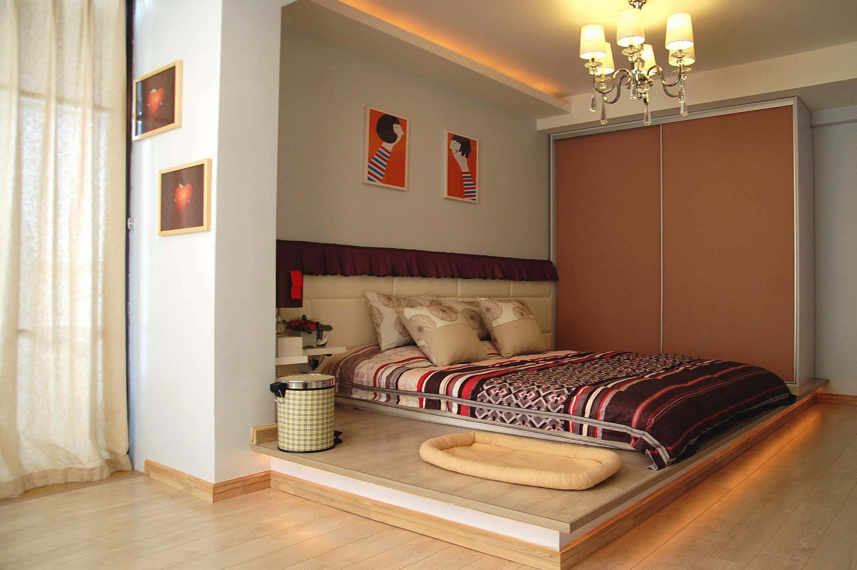 小户型现代简约二居装修卧室设计图
