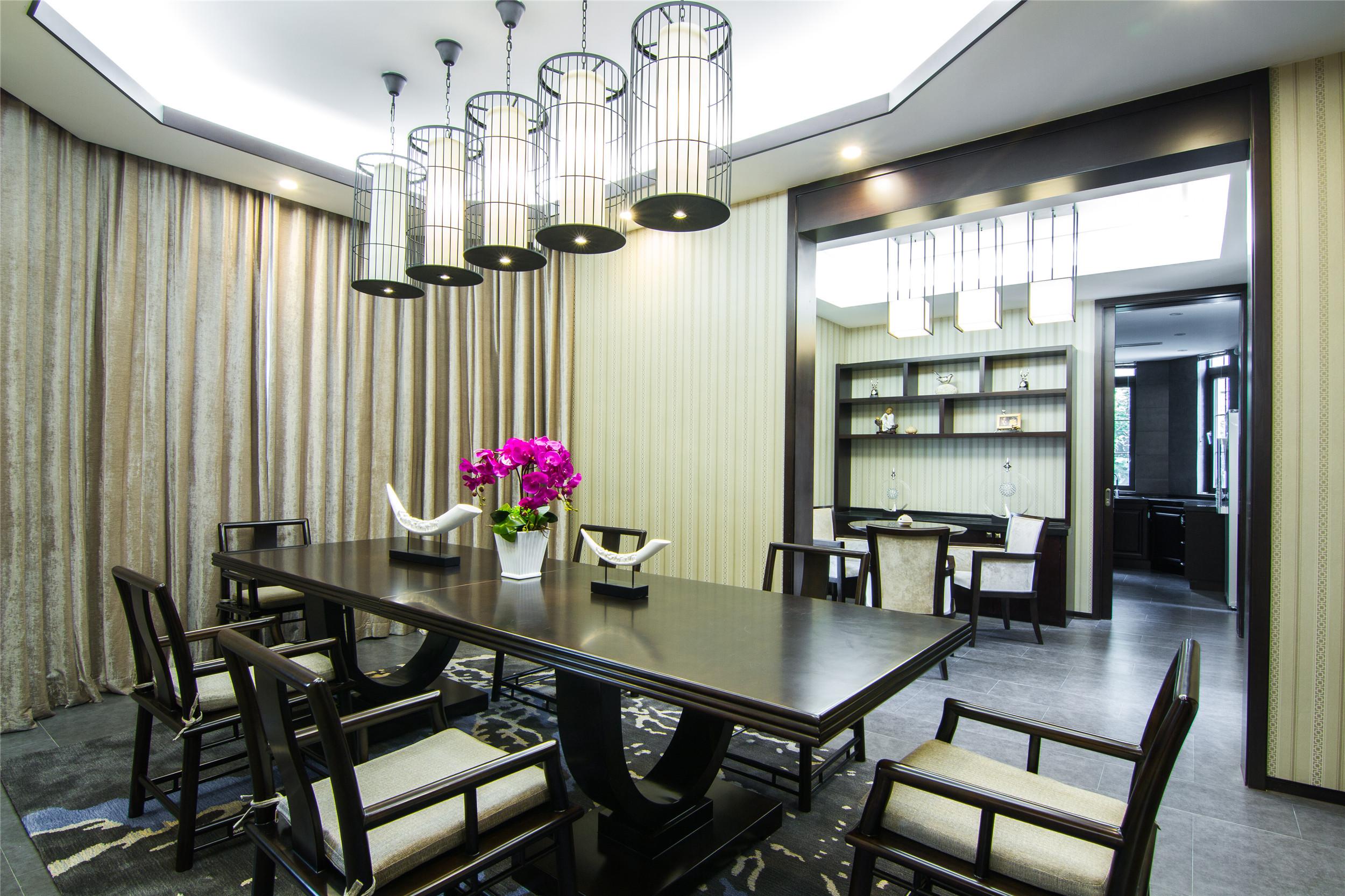 中式别墅样板房装修餐厅设计图