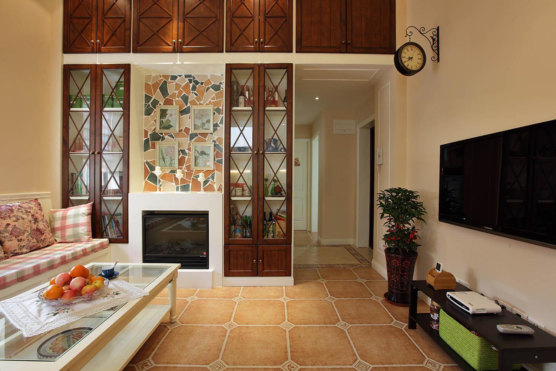 阁楼小美式之家电视背景墙图片