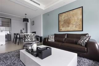 复式简约风格家沙发背景墙图片