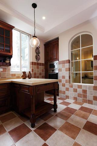 美式别墅装修厨房一角