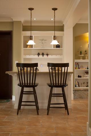 美式乡村三居室装修吧台设计