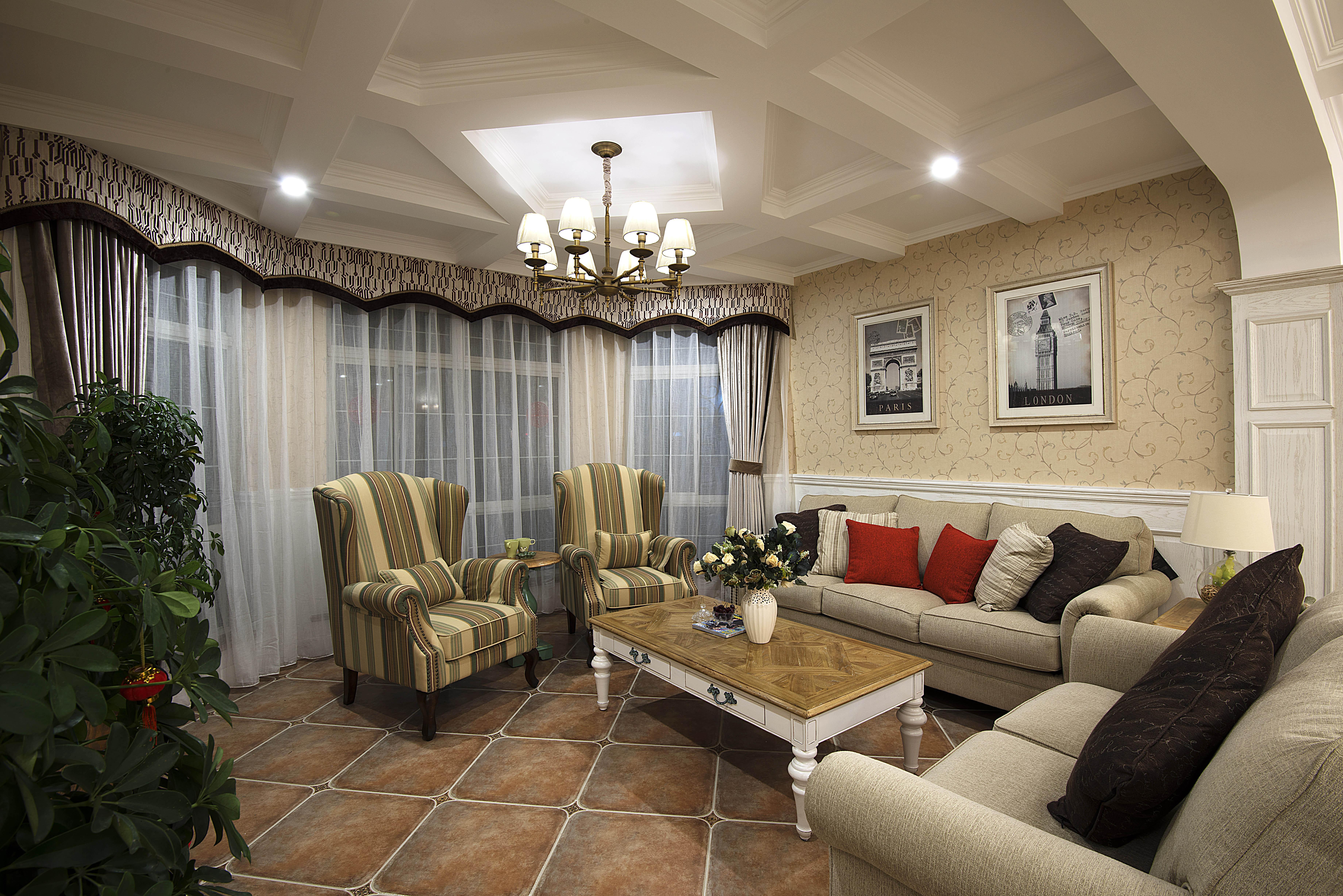 美式风格别墅设计客厅搭配图