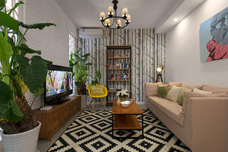 小户型北欧风之家客厅布置图