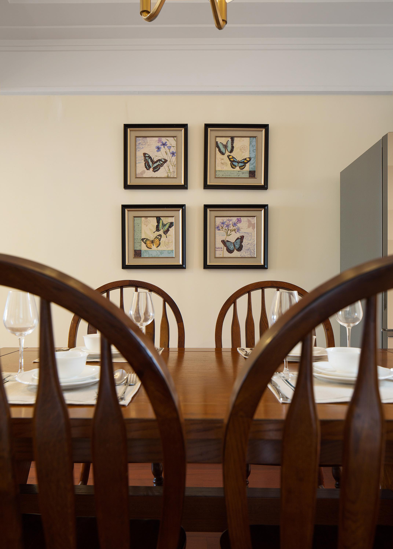 140平现代美式家餐厅背景墙图片