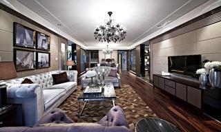后现代欧式样板房装修客厅效果图