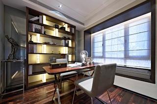 后现代欧式样板房装修书房设计图