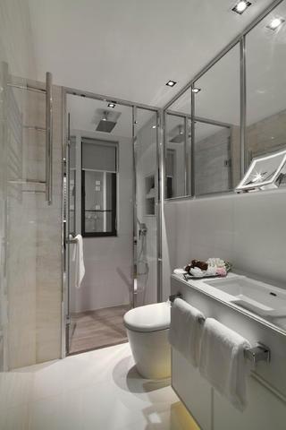 100㎡现代简约样板房装修卫生间效果图