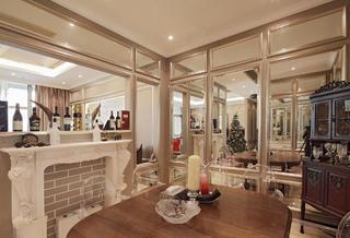 大户型时尚新古典装修餐厅效果图