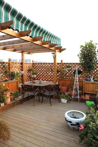新古典主义风格别墅装修花园布置图