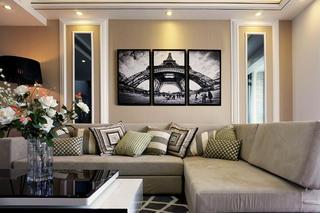 165㎡现代简约复式装修沙发图片