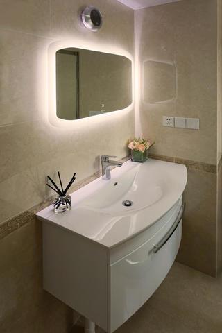 165㎡现代简约复式装修洗手台图片