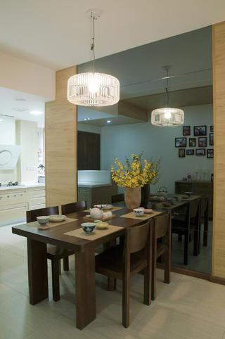 80㎡两居室装修餐厅设计图