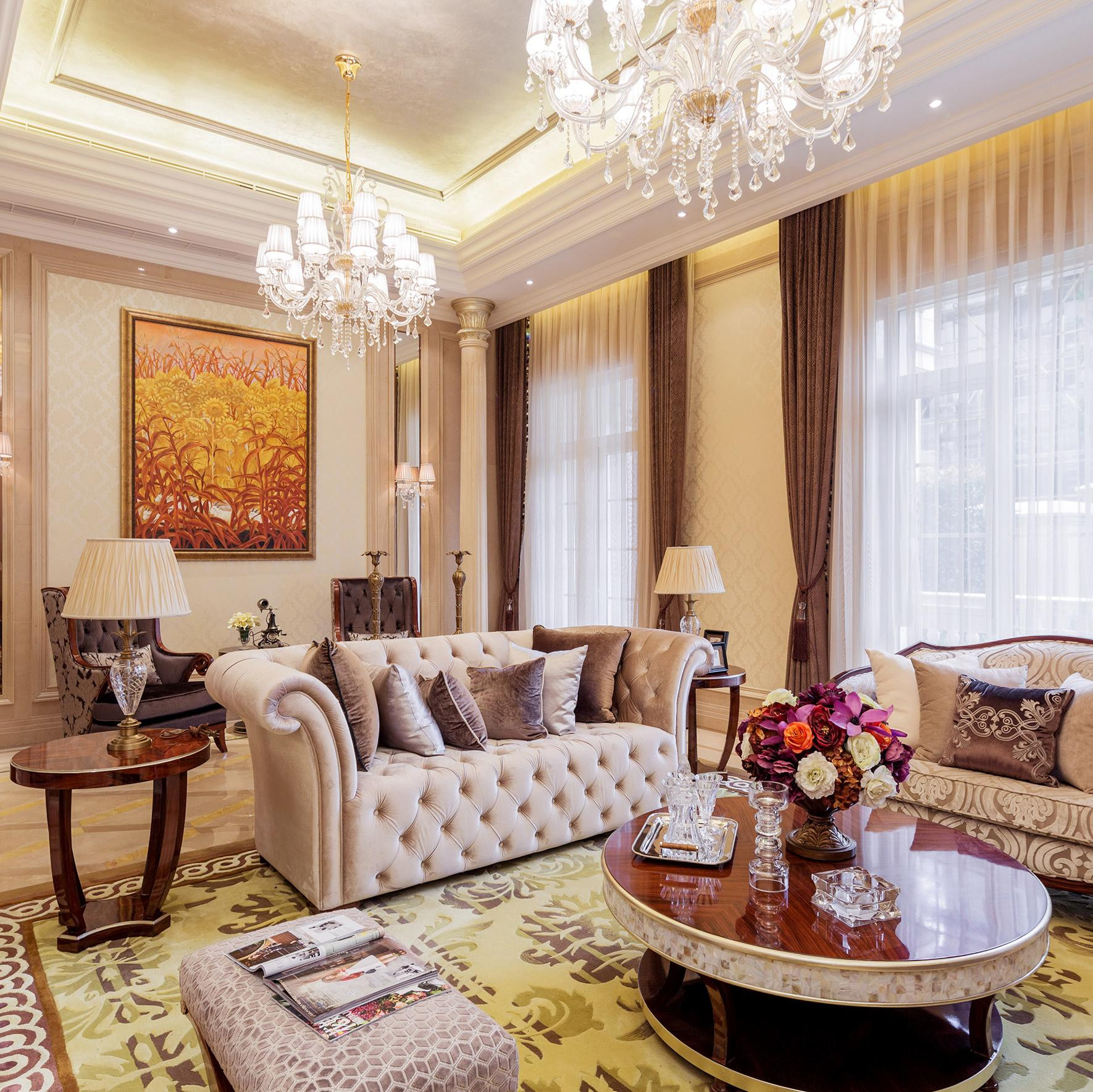 欧式古典奢华别墅装修效果图
