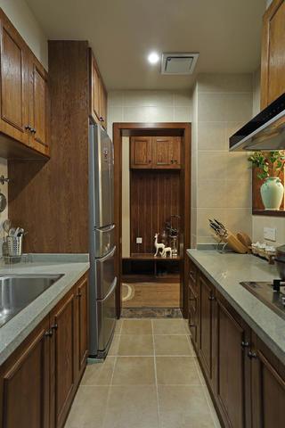 80㎡美式风格二居室装修厨房设计图