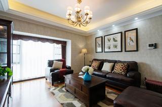 美式风情三居之家沙发背景墙图片