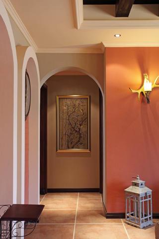 130㎡美式乡村风格装修走廊图片