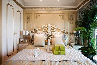 复式欧式样板间装修卧室背景墙图片