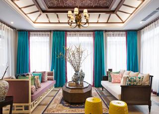 大户型东南亚风格装修客厅搭配图