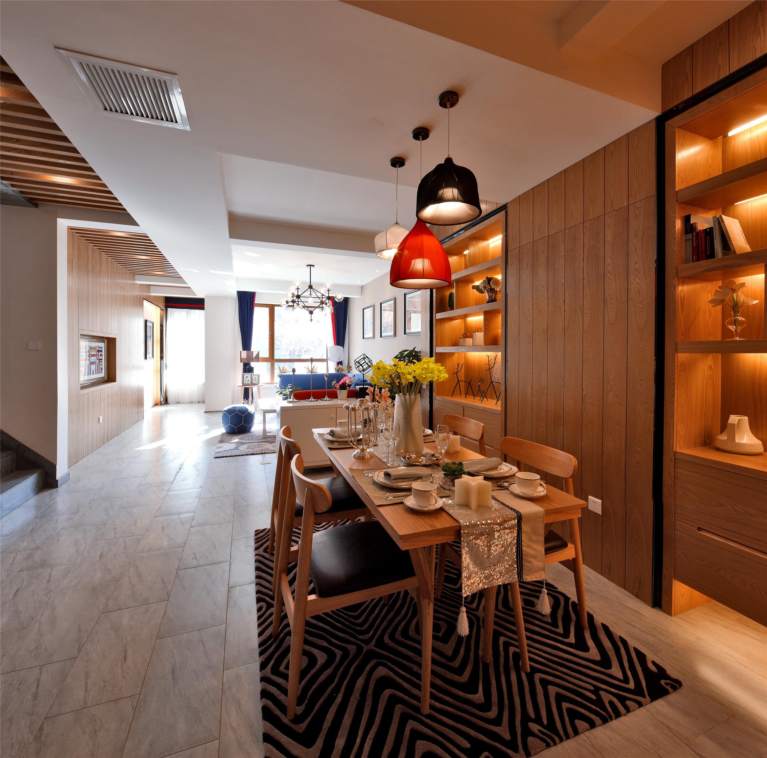 别墅样板间装修餐厅设计图