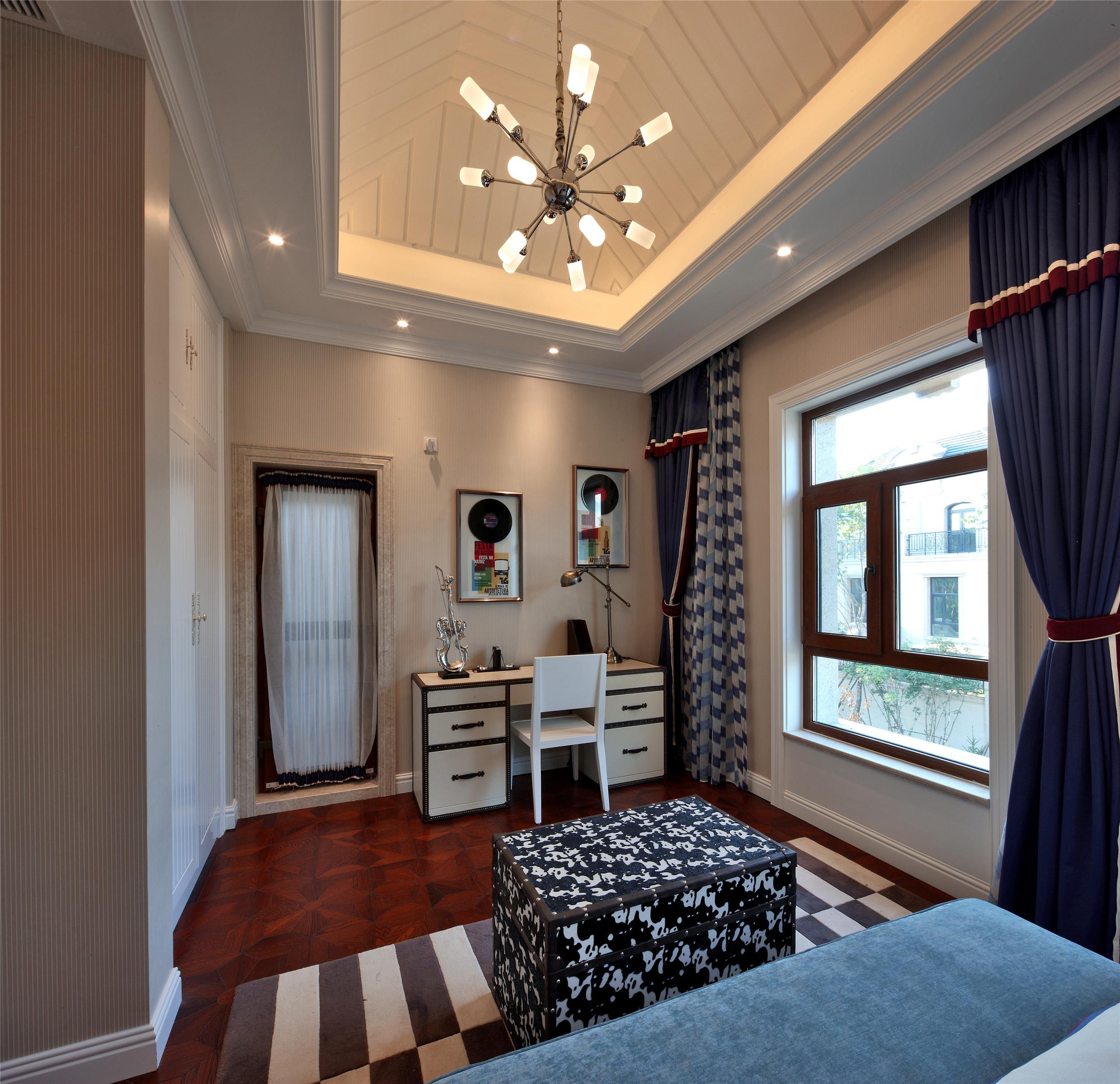 奢华别墅样板房装修卧室设计图