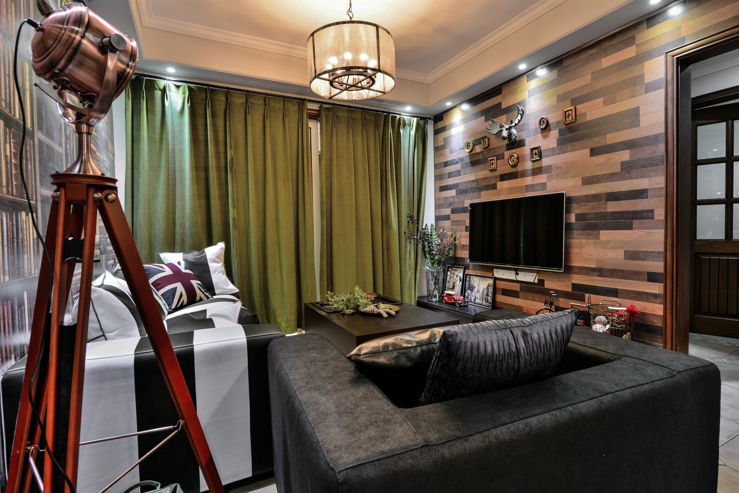 70平二居装修客厅搭配图
