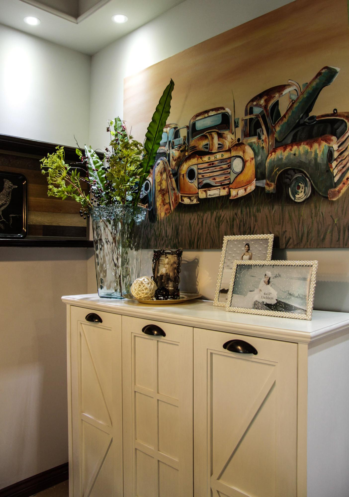 70平二居装修餐边柜图片