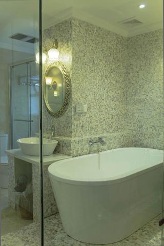 120平美式装修卫生间设计图