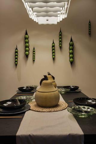 中式风格别墅餐厅设计图