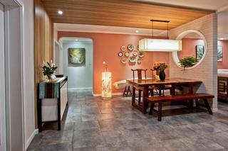 新中式四居装修餐厅设计图