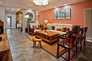 新中式四居装修客厅搭配图