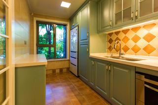 美式混搭别墅装修厨房搭配图