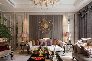 新古典主义别墅装修沙发背景墙图片
