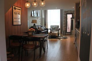 北欧风公寓装修客餐厅全景图