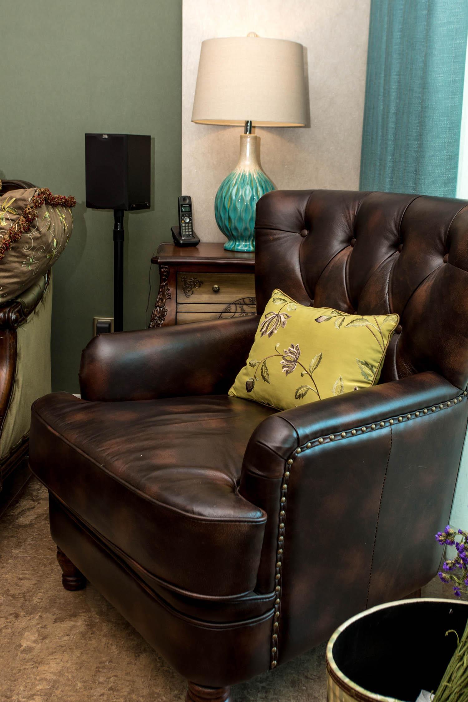 130㎡美式混搭装修单人沙发图片