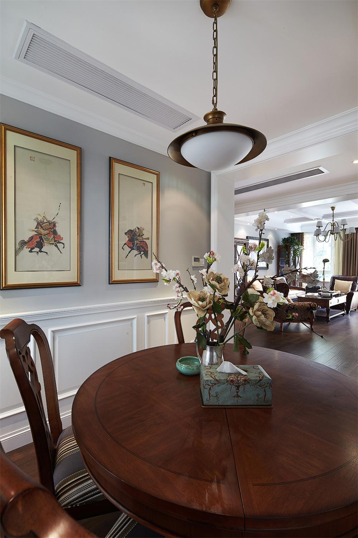 140平美式风格装修餐桌图片