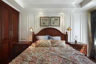 140平美式风格装修卧室背景墙图片