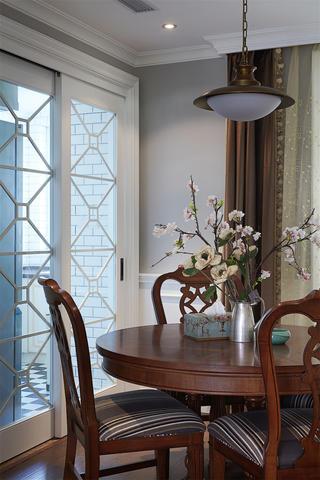140平美式风格装修餐厅小景