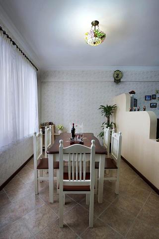 三居室田园风格家餐桌椅图片