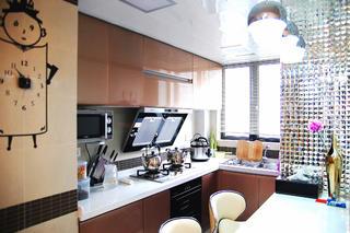 小户型现代简约二居装修橱柜图片