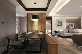 140平简约风设计餐厅背景墙图片