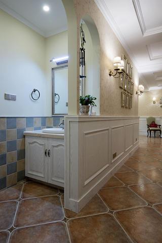 美式风格别墅设计洗手台图片