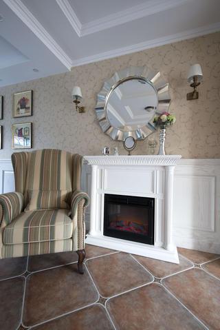 美式风格别墅设计壁炉图片
