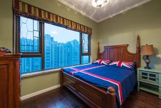 120㎡美式三居室装修卧室搭配图