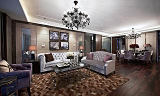 后现代欧式样板房装修沙发图片